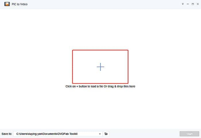 Load source to turn images to a video