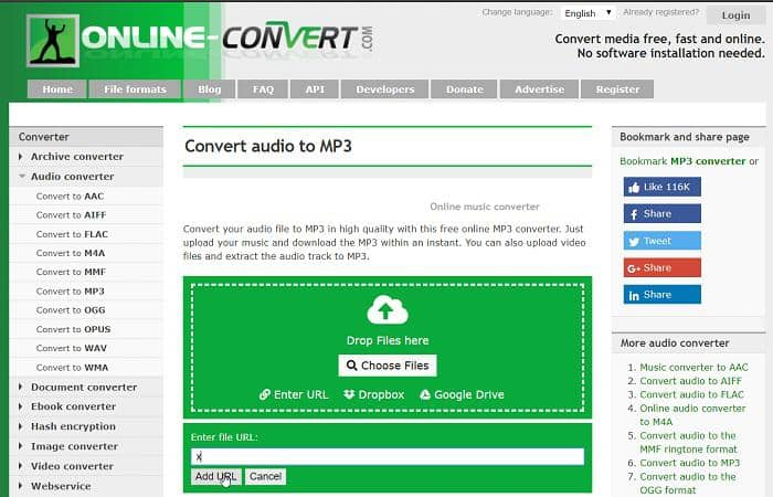 convert url to mp3 online