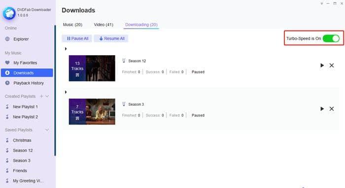 dvdfab video downloader - turbo speed