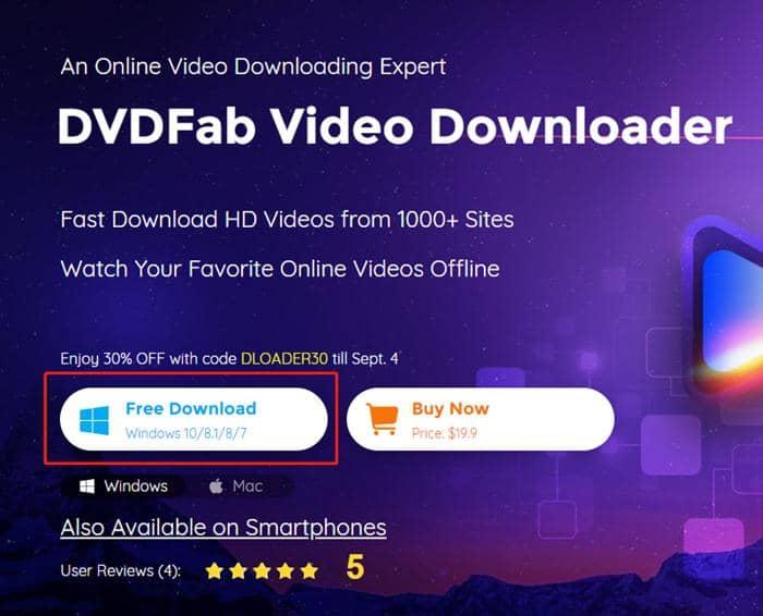 dvdfab video downloader - installer