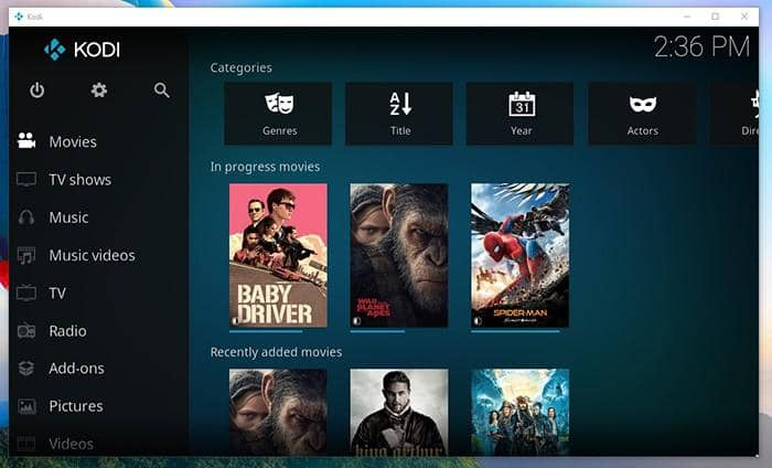 Windows 10 media center for media file management and play