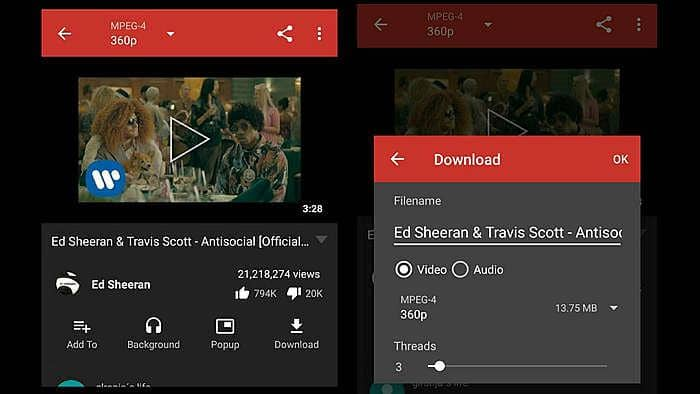 YouTube Downloader for Android app