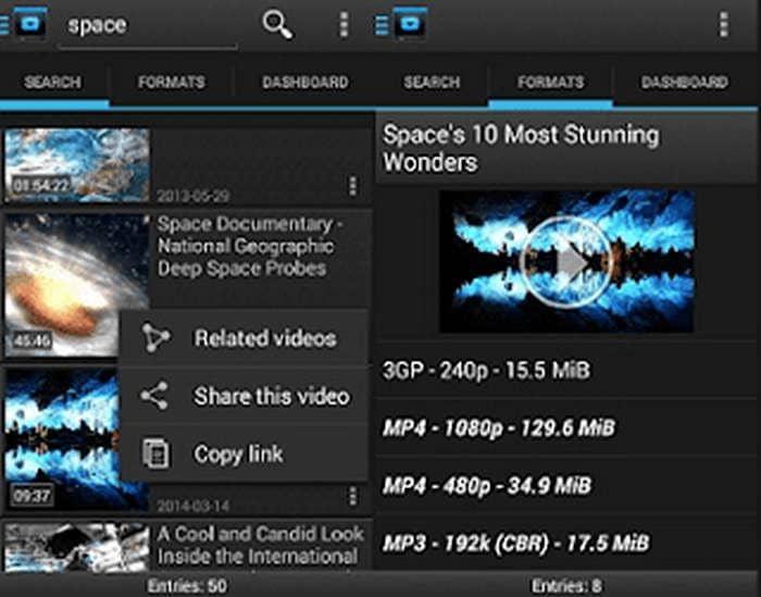 Dentex YouTube to M3 Downloader app