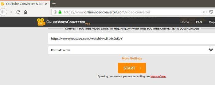 convert youtube to wmv online