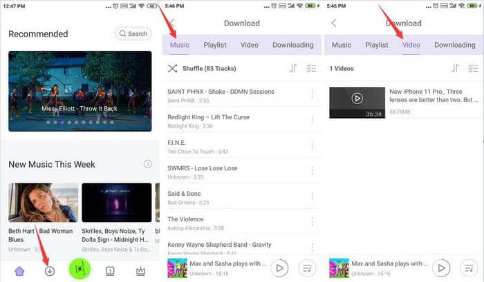Find the downloaded youtube mp3 file