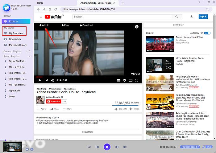 favorite youtube music