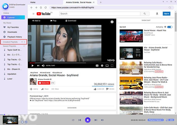 create youtube playlist