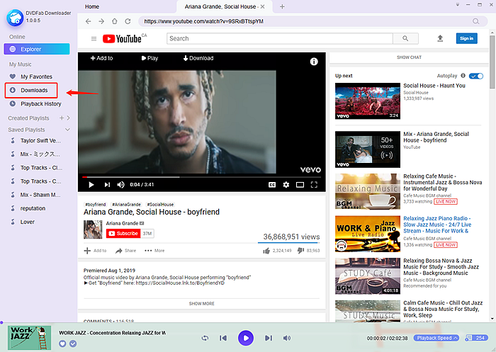How To Download Free Music From Youtube With Dvdfab Youtube To Mp3