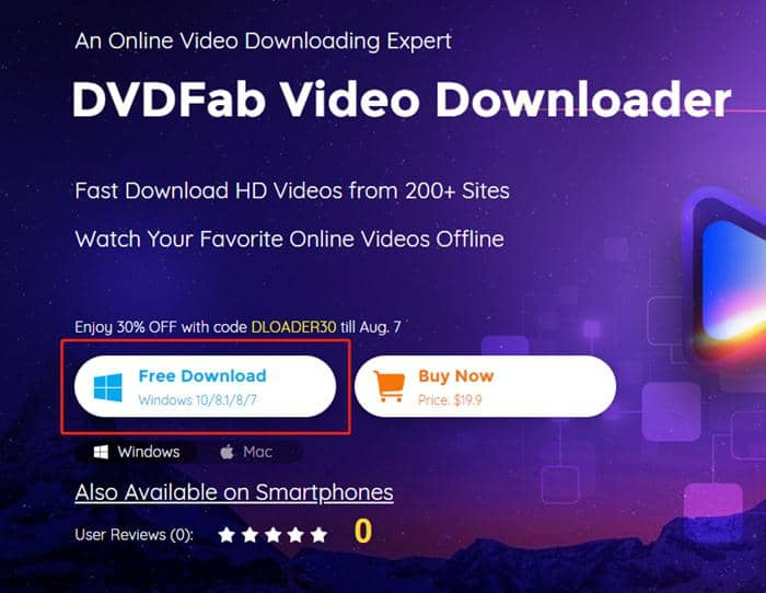 DVDFab Video Downloader installer