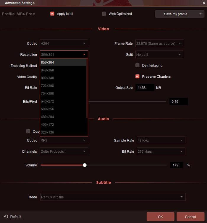 the best ripper app which you could use the advanced settings to customize the video