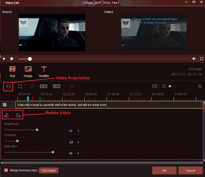 how to adjust video proprieties on the best ripper app