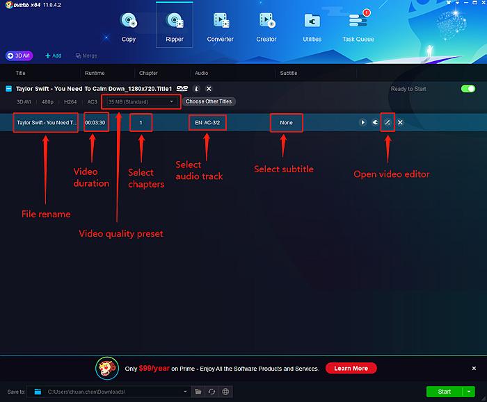 rip blu-ray to mkv/mp4/m2ts/ts settings