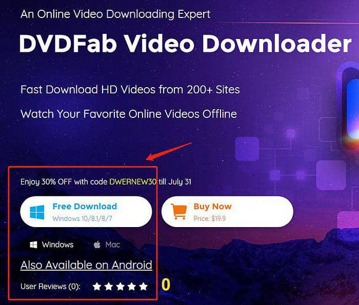 download videos with dvdfab video downloader