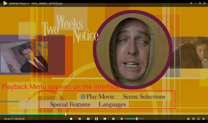 play movie with menu playback mode