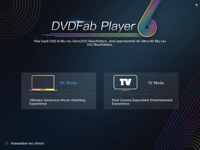interface after starting the best dvd player