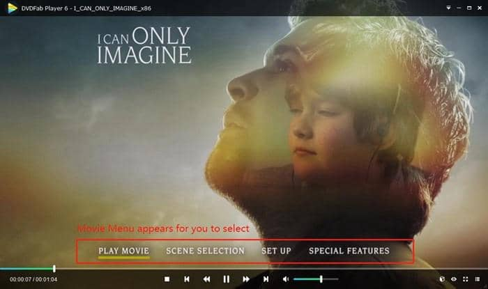 Menu mode playback of this best DVD iso player