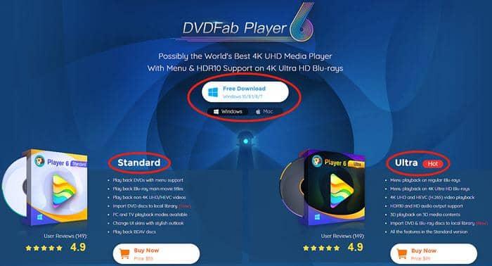 Download DVDFab Player 6