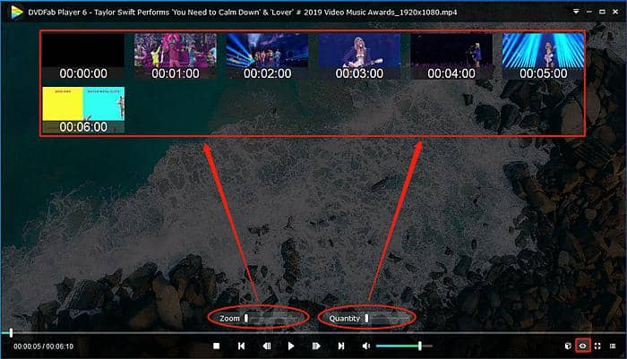 Use smart preview feature of DVDFab Player 6