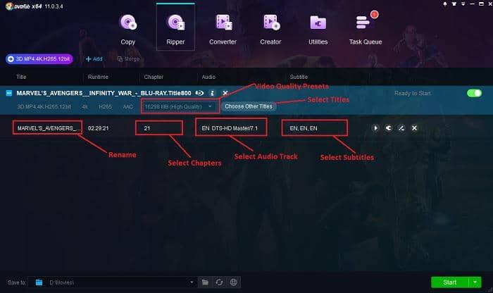 convert blu-ray 3d to mkv/mp4/m2ts/avi