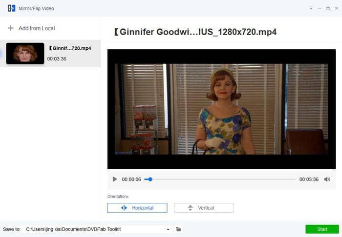 Mirror YouTube video hotizontally