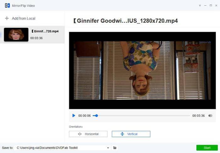 flip youtube video upside down