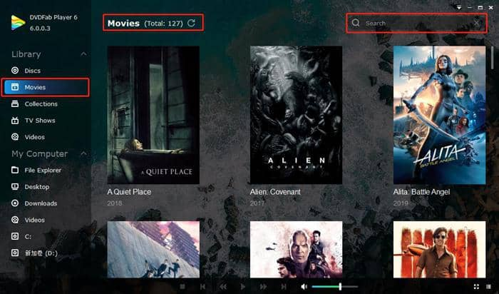 play blu-ray with powerful movie arrangement function