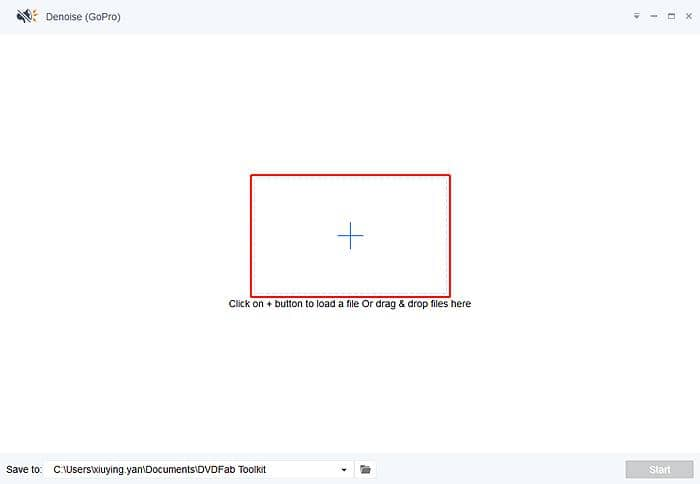 Add video file to the video noise remover