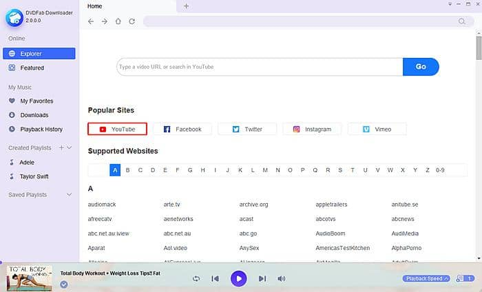 Download youtube video to create GIF